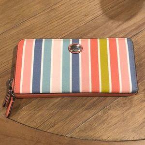 Coach Rainbow Striped Wallet